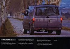 old car owners manuals 1997 chevrolet g series 2500 parking system chevrolet astro 1995 brochure