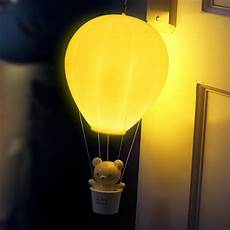 bestoyard led night light dimmable hot air balloon children baby nursery bedroom touch control
