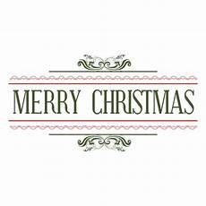 merry christmas decorative seal transparent png svg vector file