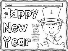 happy new year color by code addition facts 0 20 ccss aligned color by number addition facts