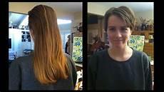 getting a pixie ish haircut youtube