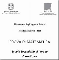 test ingresso superiori matematica soluzioni guidate prove invalsi matematica prima media
