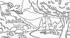 easy nature coloring pages 16364 nature