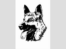 Kostenlose Malvorlage Hunde Deutscher Schferhund Zum