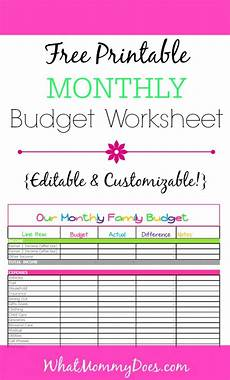 free monthly budget template cute design in excel