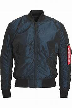 alpha industries ma 1 tt bomber jacket iridium rep blue