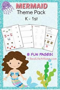 mermaid printables packet for preschoolers