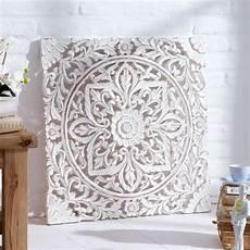 wand deko holz ornamentik 60x60 cm geschnitzt shabby