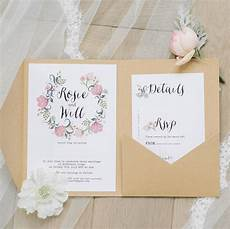 Wedding Pocketfold Invitations