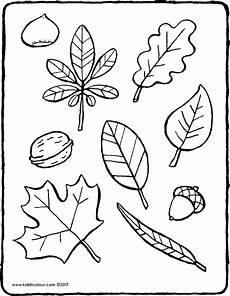 Herbst Malvorlagen Autumn Leaves Kiddicolour
