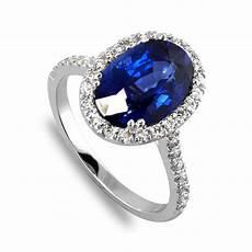 1 25 carat blue sapphire halo diamond engagement ring