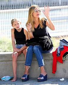 Heidi Klum Spends The Day With Four Children In New