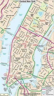 Stadtplan New York - central new york city map in 2019 new york city map map