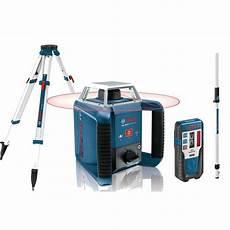 niveau laser exterieur professionnel laser bosch pro rotatif grl 400 h ligne horizontale