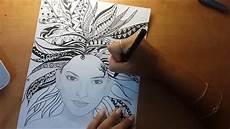 Mandala Frau - s mandala hair timelapse