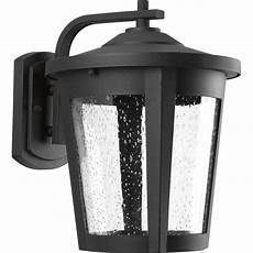 progress lighting east haven collection 1 light outdoor black led wall lantern p6079 3130k9