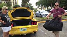 Mustang Convertible Boot Space