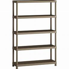 etagere resine leroy merlin etag 232 re r 233 sine spaceo 5 tablettes terre l120xh181xp40 cm