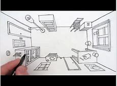 How to Draw a Room in One Point Perspective: A Bird's Eye