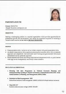 resume format for freshers in hotel management hotel management resume format pdf printable planner template