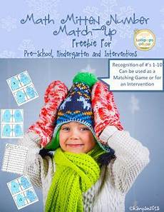 worksheets for nursery 19281 free winter math activities number sense mitten match up for pre k k haken