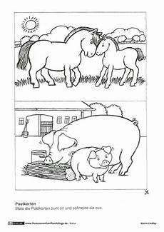 als pdf natur bauernhof postkarten pferd