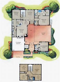 house plans with courtyard in middle single story mediterranean house plans courtyard middle