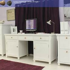 home office furniture online hton solid ash twin pedestal hidden computer desk