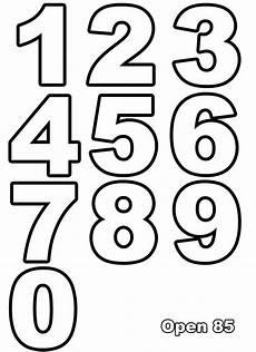 Zahlen Malvorlagen Kostenlos Ausmalen Nummern Ausmalbilder F 252 R Kinder Letras Para