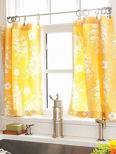 Kitchen Curtains Diy by How To Make Kitchen Curtains Diy Cafe Curtains