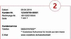 muster rechnung vodafone kabel deutschland kundenportal