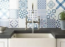 Blue Tile Backsplash Kitchen Top 15 Patchwork Tile Backsplash Designs For Kitchen