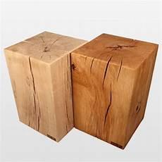 massivholz block klotz hocker 100 massiv aus buche