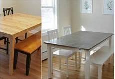 tischplatte selber machen holz esstisch aufpeppen tischplatte in betonoptik