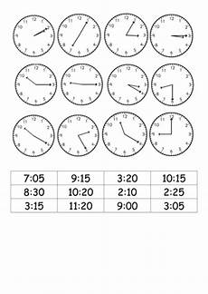 time worksheets matching digital to analog 3088 match analogue clocks to 12 hour digital times teaching resources