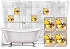 Fliesenaufkleber Fliesenbild Zitrone Seestern Wellness Spa