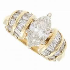 14k yellow gold 1 50ct marquise shape diamond engagement ring ebay