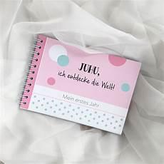 baby erinnerungsbuch quot mein erstes jahr quot rosa mintkind