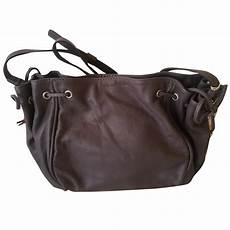 gerard darel mini 24h handbags leather grey ref 30382