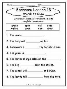 worksheets on seasons for grade 2 14834 1st grade journey s lesson 13 comprehension pack seasons by the foxy apple