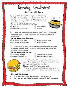 drawing conclusions in the kitchen by schooling by heart tpt