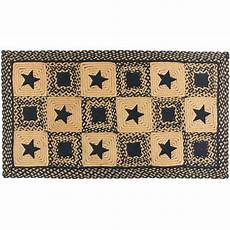 Country Rectangle Braided Rug Primitive Black And
