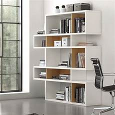Temahome Etagere Bibliotheque 5 Niveaux Chene Blanc