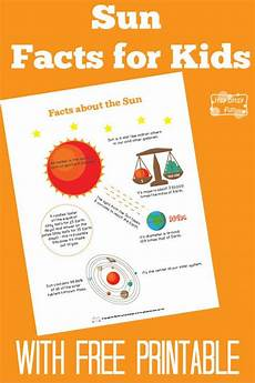 facts about the sun worksheet sun facts for unit studies outer space