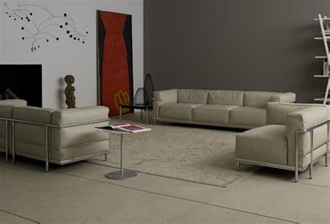 Le Corbusier Lc3 3 Seater Sofa Black|le Corbusier Sofa