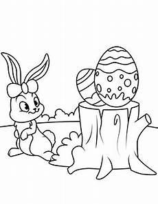 ausmalbild osterhase mit eier ausmalbild osterhase mit zwei ostereiern zum ausmalen