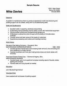 sle resume building maintenance worker maintenance worker resume sle