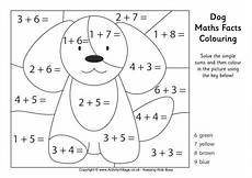 dog maths facts colouring page free printable learn and