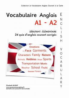 Vocabulaire Anglais Courant A1 A2 Grammaire Anglaise