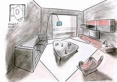 dessin d un salon salons fb dess ign esquisses en architecture int 233 rieure